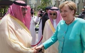 دیدار مرکل صدر اعظم آلمان از عربستان سعودی