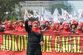 روز جهانی کارگر در جاکارتا در اندونزی