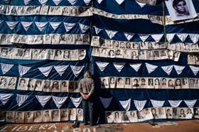 یادبود مفقود شدگان در یوینس آیرس آرژانتین در دوران حکومت نظامی در جهل سال پیش