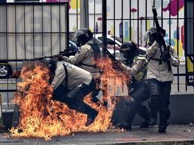 تظاهرات علیه مادورو در کاراکاس ونزوئلا