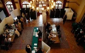 یک محل رای گیری ریاست جمهوری فرانسه