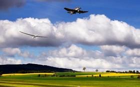 به پرواز در آوردن یک هوپیمای بدون موتور یا گلایدر در فرانکفورت آلمان