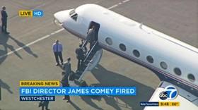لحظه ای که رئیس اف بی آی آمریکا برای یک سفر کاری سوار هواپیما می شد خبر برکناریش منتشر شد