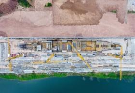 نمایی از محل بازسازی کشتی تایتانیک در شیجوان چین