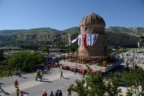 یک بنای تاریخی در موسوم به مقبره زینب در ترکیه به دلیل اجرای یک طرح سد سازی به محل دیگری منتقل می شود