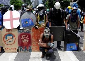 تجهیزات ضد پلیس تظاهرکنندگان در ونزوئلا