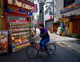 خیابانی در اوزاکای ژاپن