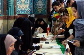 عکس های خبری از حضور مردم در انتخابات 96