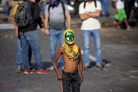 تظاهرات در کاراکاس علیه مادرو در ونزوئلا