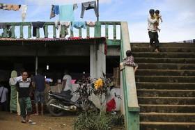 بازی کودکان آواره از شهر ماراوی در فلیپین که در اشغال تروریست های داعش است