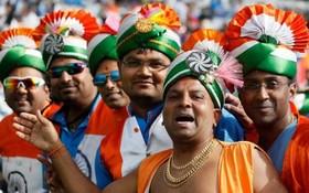 طرفداران تیم کریکت هند در بازی با آفریقای جنوبی در انگلیس