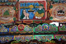 هنر روی کامیون های پاکستانی