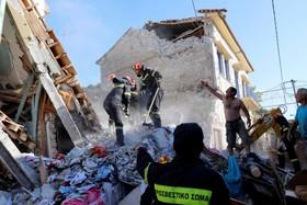 زلزله در جزیره لسبوس در یونان و تلاش برای آواربرداری