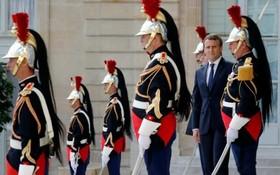 امانوئل ماکرون رئیس جمهوری فرانسه در کاخ الیزه