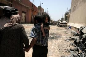 آوارگان عراقی در از کنترل داعش در موصل