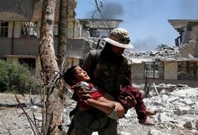 کودکان قربانیان داعش در موصل