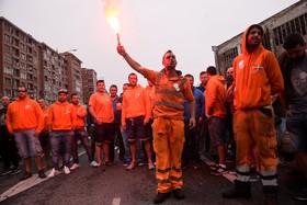 اعتصاب کارکنان بندر بیلبائو در سانتاکروز اسپانیا