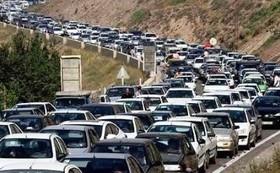 ترافیک جاده کرج سنگین است