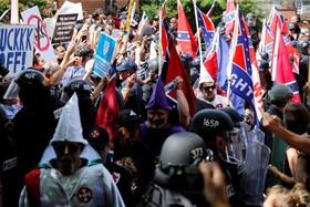 تظاهرات نژاد پرستان در آمریکا و مخالفان آن ها در شالوت فلوریدا