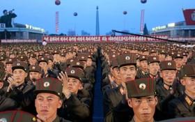 جشن آزمایش موشک قاره پیما در کره شمالی