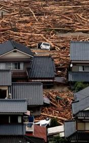 خرابی های سیل اخیر در ژاپن