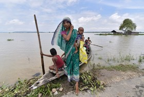 سیل در آسام هندوستان