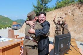 شادی رهبر کره شمالی از یک آزمایش جدید موشکی