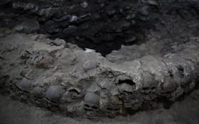 بنایی از دوران آزتک در مکزیکوسیتی که به تازگی کشف شده است