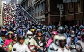 یک روز کاری در تایپه تایوان و ترافیک موتورسوران