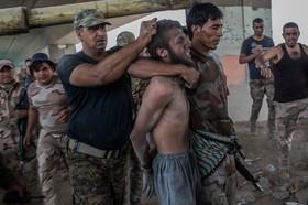 یک متهم داعشی دستگیر شده در موصل