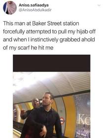 حمله نژادپرستانه به زن مسلمان