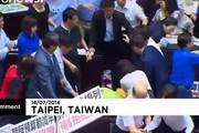 درگیری بین نمایندگان مجلس در تایوان