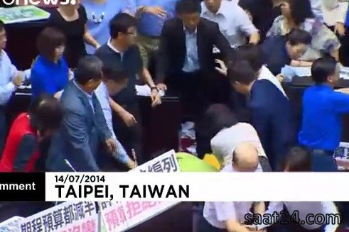 درگیری در مجلس تایوان