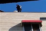 سقوط دلخراش دختر ۱۸ ساله مازندرانی از بالای ساختمان + فیلم