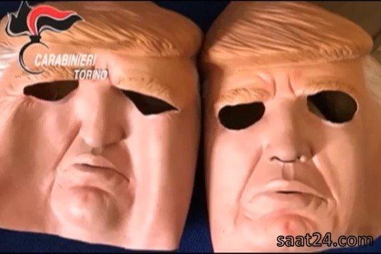 دستگیری دزدان بانک با ماسک ترامپ