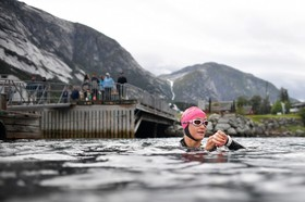 تمرین یک ورزشکار در ادیفورد در نروژ