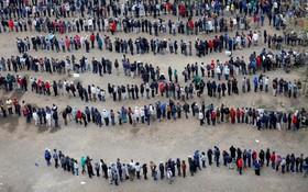 صف رای گیری در نایروبی در کنیا