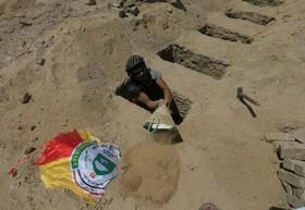 مراسم دفن گروهی از شهدای ارتش عراق که در مرز با سوریه کشته شده اند
