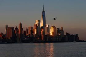 نمایی از ساختمان برج جدید تجارت جهانی در نیویورک