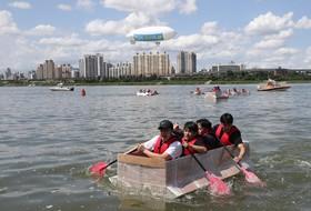 جشنواره مسابقه قایق های کاغذی در سئول کره جنوبی