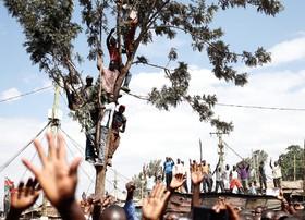 گردهمایی ریلا ادوینگا نامزد شکست  خورده انتخابات ریاست جمهوری در نایروبی کنیا
