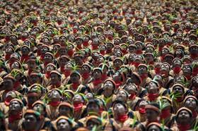 گردهمایی ده هزار نفری رقص سنتی سامان در آچه اندونزی