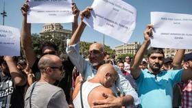 تظاهرات گسترده مسلمان در بارسلونا