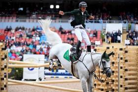 سرنگون شدن سوار کار در مسابقات جهانی پرش با اسب در سوئد