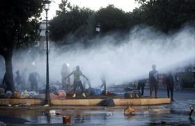 شورش مهاجران در رم ایتالیا و درگیری با پلیس