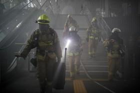 مشارکت آتش نشانان در کره جنوبی در مانور ضد تروریستی در سئول