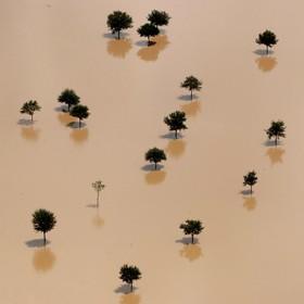 نمایی از آثار سیل در تگزاس آمریکا
