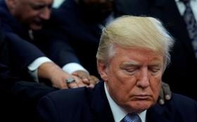 ترامپ در مراسم دعا در کاخ سفید برای سیل زدگان تگزاس
