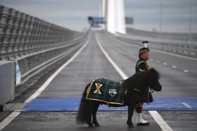 مراسم افتتاح پل معلق جدیدی در اسکاتلند