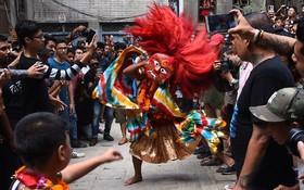 جشنواره ای مذهبی در نپال کاتماندو